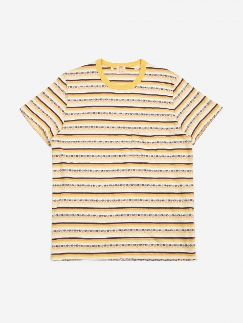Levis Vintage Clothing 1960s Casual Stripe T-Shirt - Custard Str