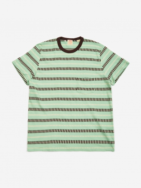 Levis Vintage Clothing 1960s Casual Stripe T-Shirt - Mint Stripe