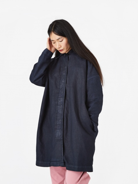 Cocoon Painted Coat - Black/Navy