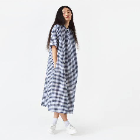 Joan Check Dress - Blue