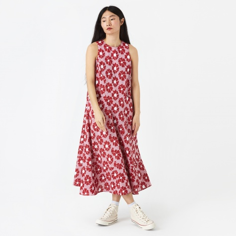 Bonita Flower Dress - Pink/Red