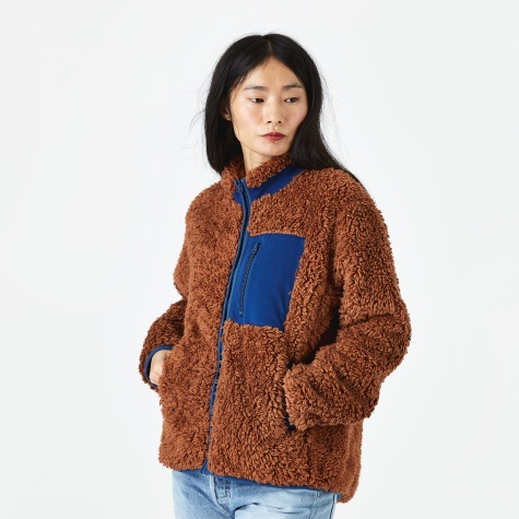 Pilgrim Fleece - Brown/Blue