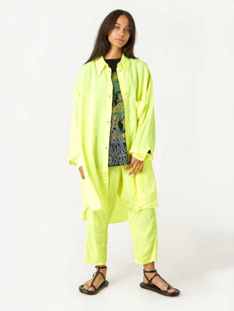 1a5a555da3 Oversized Shirt - Lemon