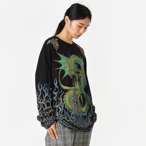 Dragon Longsleeve T-Shirt - Black