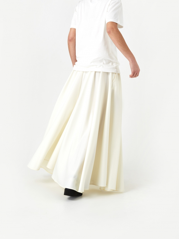 MM6 Maison Margiela Pleated Skirt - Off White (Image 1)