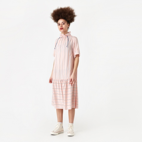 Delphine Dress - Light Rose Stripe