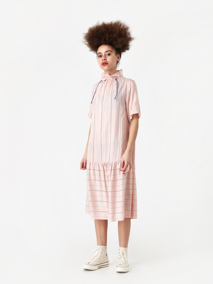 Wood Wood Delphine Dress - Light Rose Stripe (Image 1)