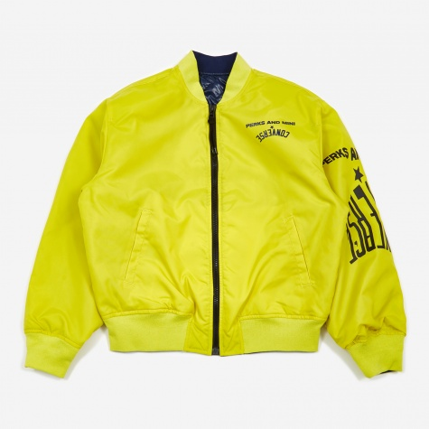 x P.A.M Perks And Mini Bomber Jacket - Acid Haus Yellow