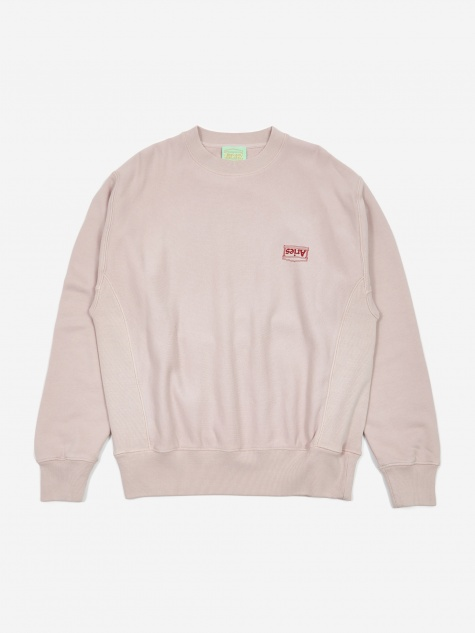Basic Crewneck Sweatshirt - Dusty Pink