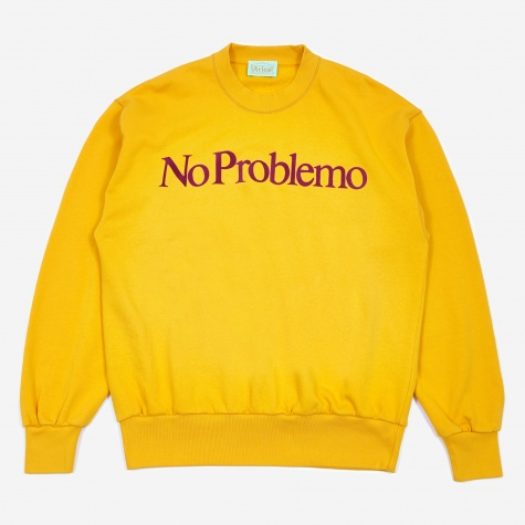 No Problemo Crewneck Sweatshirt - Yellow/Purple