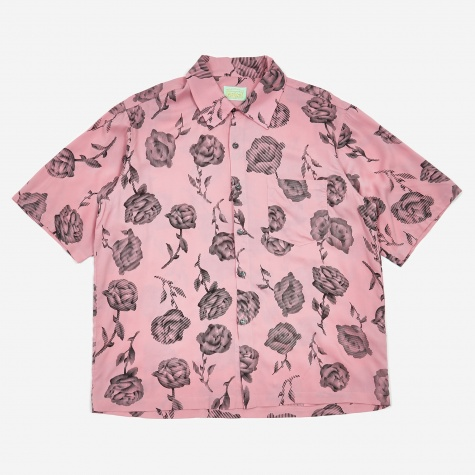 Rose Hawaiian Shirt - Pink