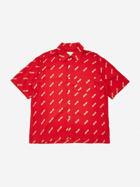Logo Bowling Shirt - Red