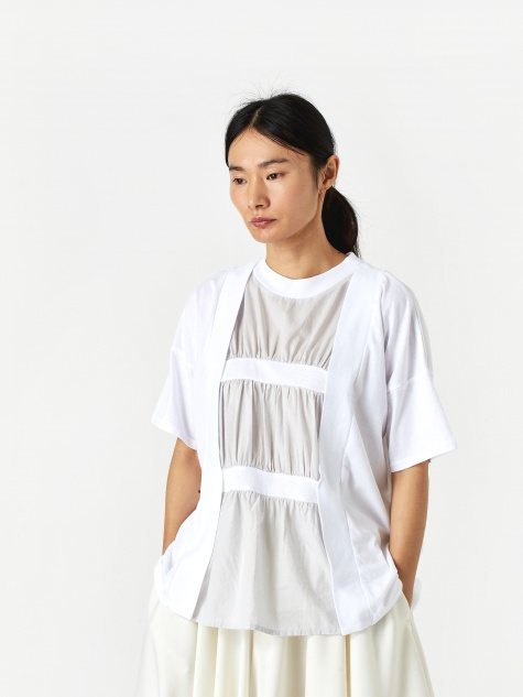 Pleat Detail Top - White