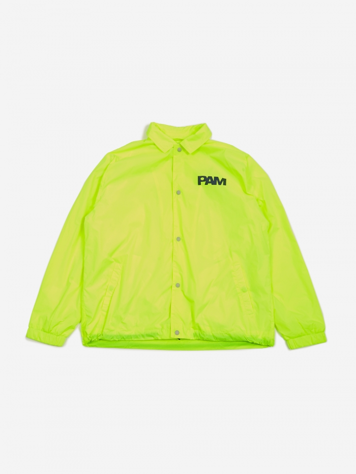 Perks & Mini PAM Perks And Mini Alien Morphosis Coach Jacket - Fluro Yellow (Image 1)