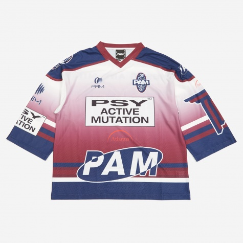 PAM Perks And Mini New Worlds Sublimation Top - Burgundy/Navy Pr