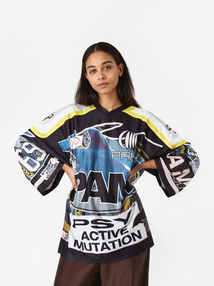 Perks & Mini PAM Perks And Mini New Worlds Sublimation Top - Blue/Yellow/Pink (Image 1)