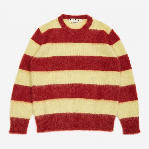 Striped Sweater - Yellow/Bordeaux