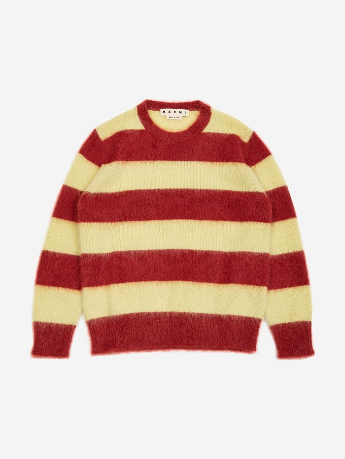 Striped Sweater   Yellow/Bordeaux by Marni