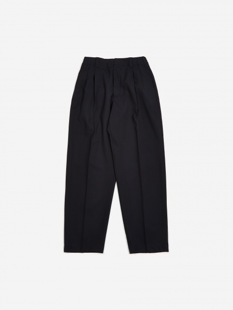 Pleated Trousers - Blue/Navy