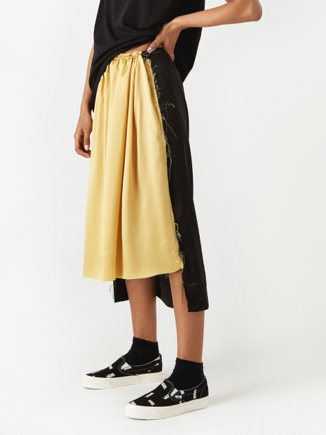 Half And Half Skirt - Black/Sable