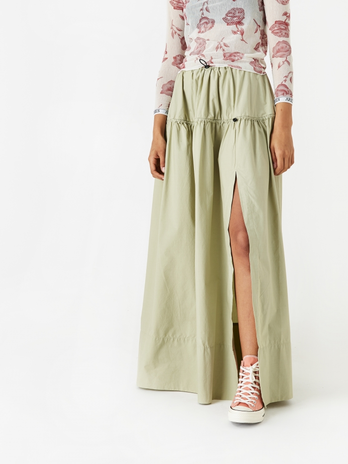 Aries Snow Skirt - Khaki (Image 1)