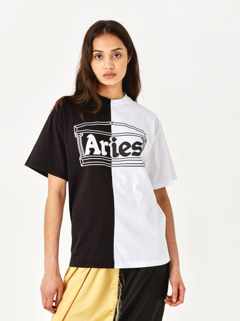 Two Tone Temple T-Shirt - Black/White
