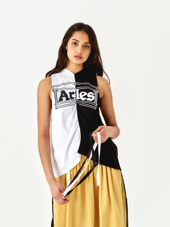 Aries Two Tone Temple Vest - Black/White (Image 1)