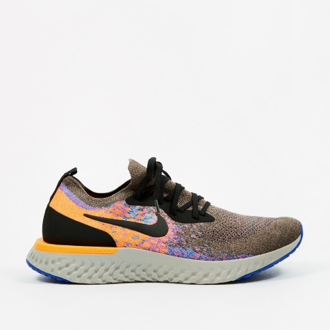 Epic React Flyknit - Mink Brown/Black-Total Orange-Racer