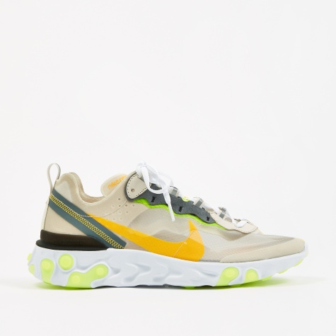 React Element 87 - Lt Orewood Brn/Laser Orange-Volt Glow