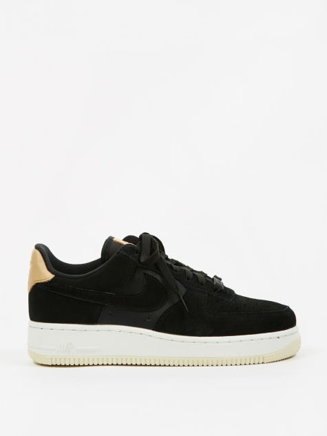 Women's Air Force 1 07 Premium Shoe - Black/Black-Summit