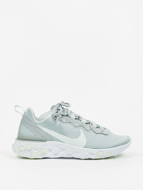 React Element 55 - Wolf Grey/Ghost Aqua-White