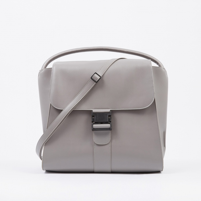 Zucca Large Clasp Bag - Grey (Image 1)