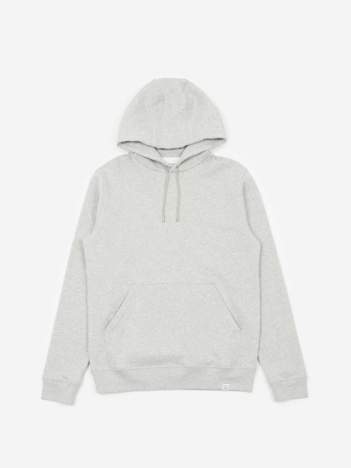 Norse Projects Vagn Classic Hooded Sweatshirt - Light Grey Melan (Image 1)
