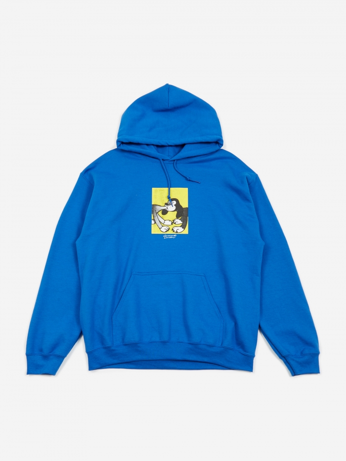 Goodhood x BEAMS T x Face & Shinknownsuke Hooded Sweatshirt - Bl (Image 1)