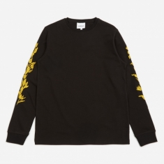 Soulland Gary Longsleeve Embroidered T-Shirt - Black