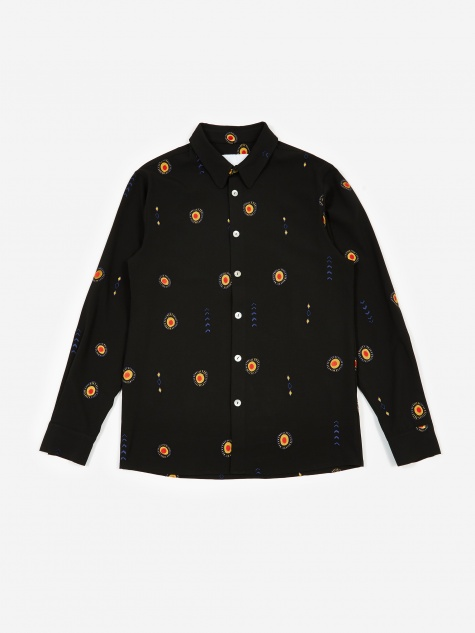 Max All Over Emboridered Shirt - Black