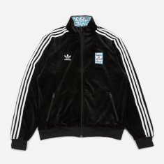 Adidas x Have A Good Time Velour Track Top - Black