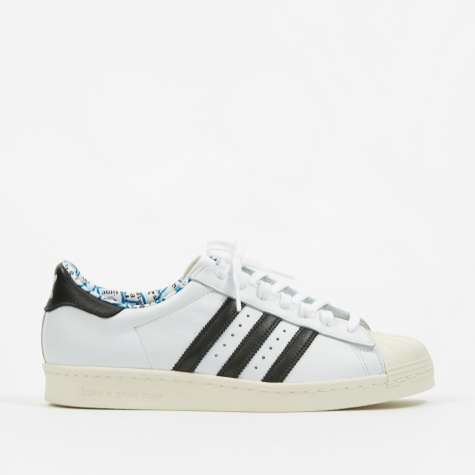 x Have A Good Time Superstar 80s - White/Black/Chalk Whit