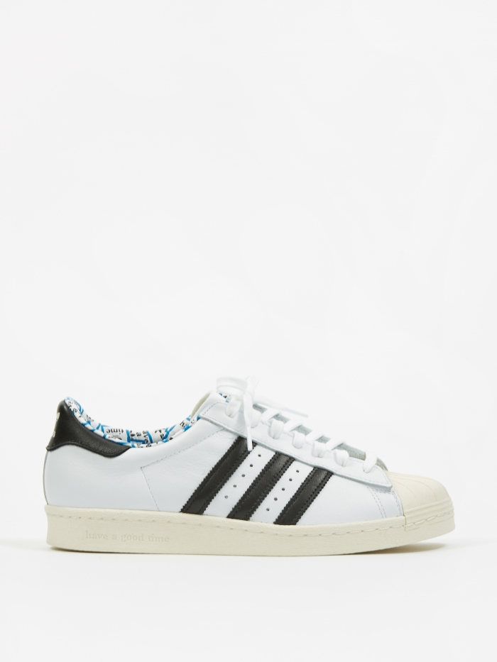 Adidas x Have A Good Time Superstar 80s - White/Black/Chalk Whit (Image 1)