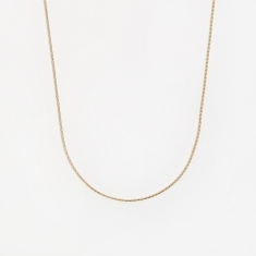 Goods by Goodhood Round Spiga Chain / Gold / 0.9mm Gauge / 60cm