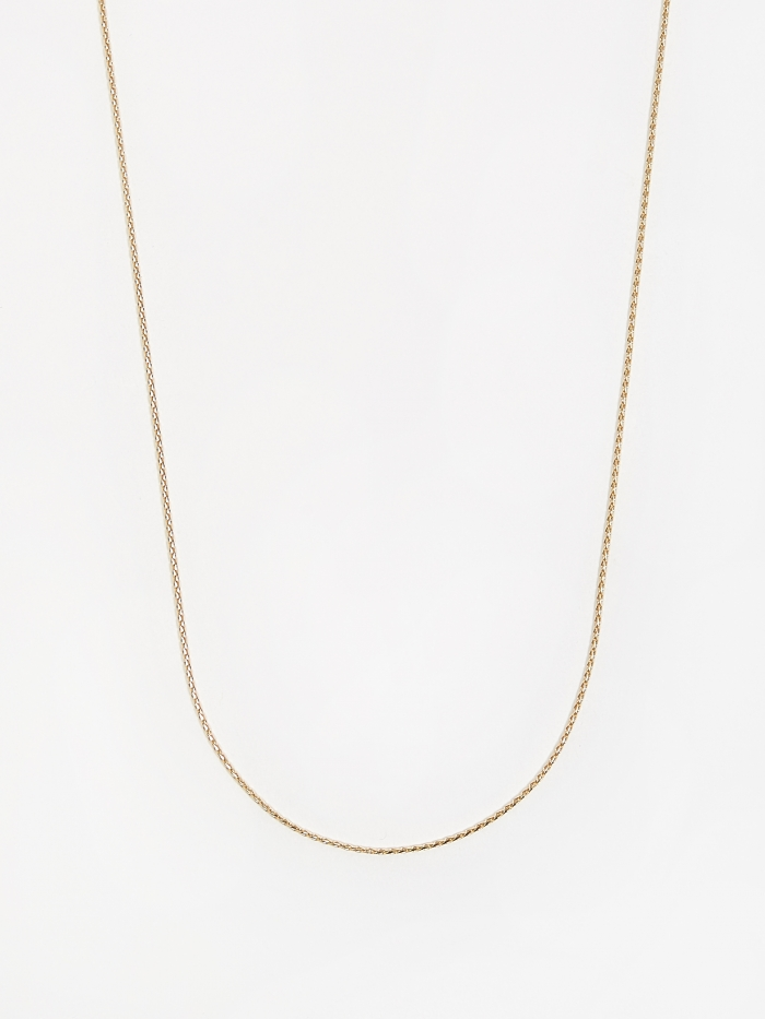 Goods By Goodhood Round Spiga Chain / Gold / 0.9mm Gauge / 60cm (Image 1)