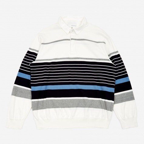 Rugger Sweater - Ivory/Blue