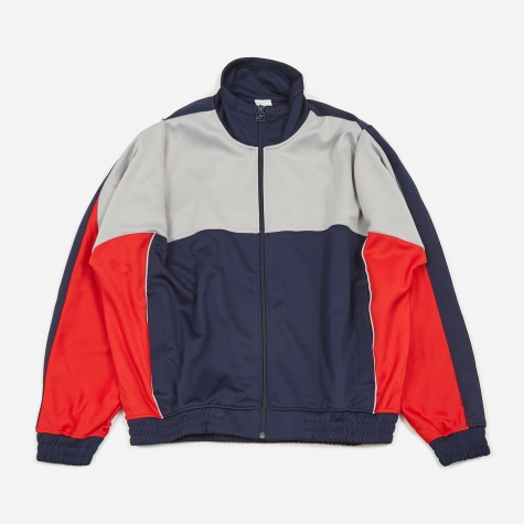 x Martine Rose Track Jacket - Blackened Blue/Atmosphere Gre