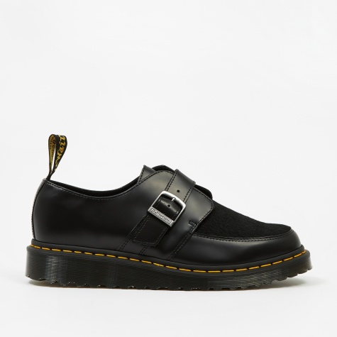 Dr. Martens Ramsey Monk - Black Smooth & Black Italian Hair