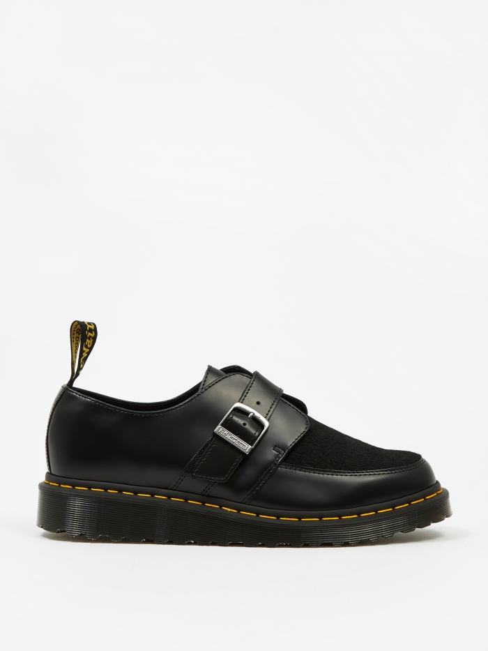 Dr Martens Dr. Martens Ramsey Monk - Black Smooth & Black Italian Hair (Image 1)