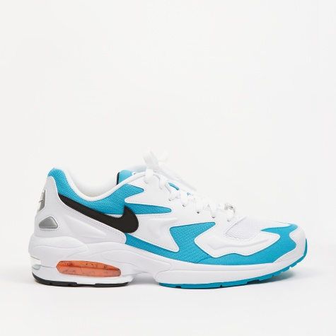 Air Max2 Light - White/Black-Blue Lagoon-Laser Orange