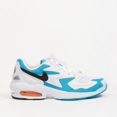 Nike Air Max 2 Light - White/Black-Blue Lagoon-Laser Orange