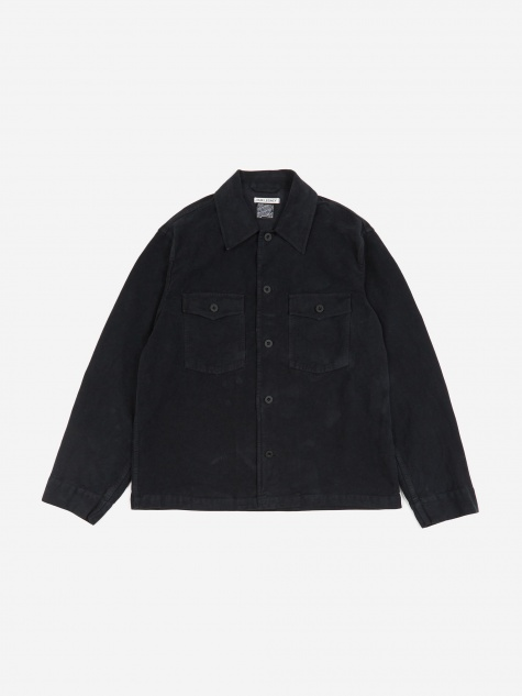 Evening Coach Jacket - Blue Black Moleskin