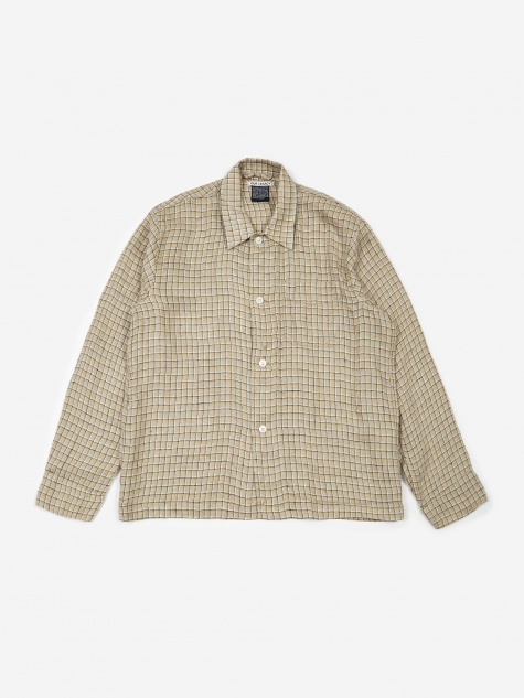 Box Shirt - Raw Potato Yellow Check