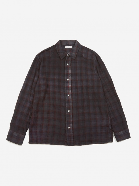 Fine Frontier Shirt - Red/Blue Net Check